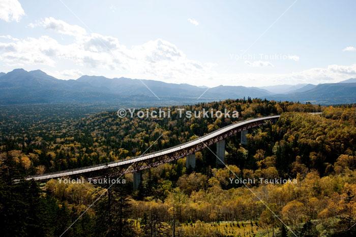 大雪・三国峠の松見大橋と紅葉